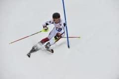 Simion Kemmer bei schwierigen Schnee-und Pistenbedingungen im Dompokal-Rennen  Slalom Todtnauberg