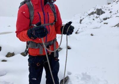 Aufbau Gletscherseilschaft